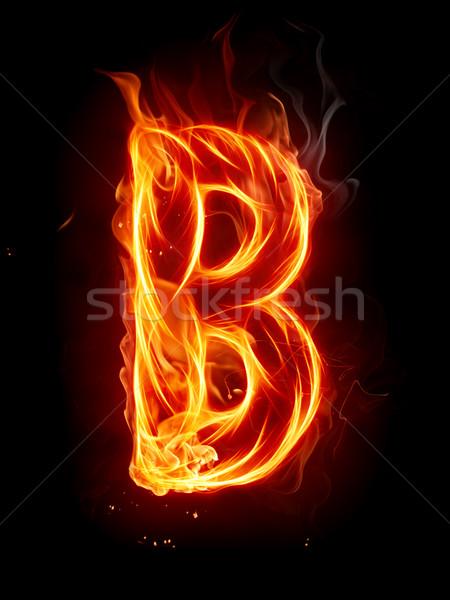 Tűz levél betűtípus piros gyönyörű szöveg Stock fotó © Misha