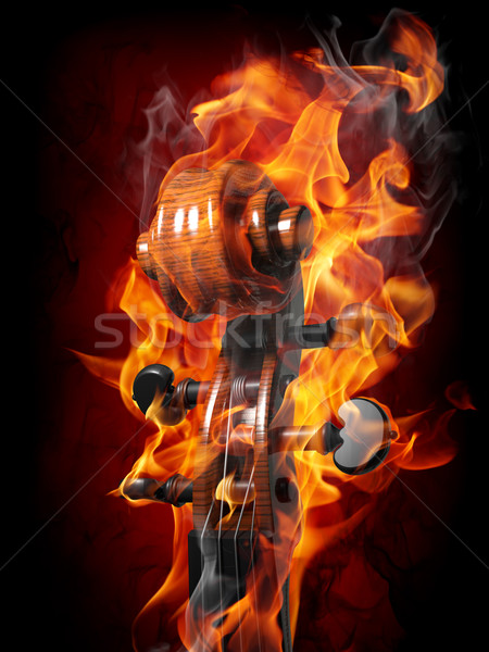 Burning violin Stock photo © Misha