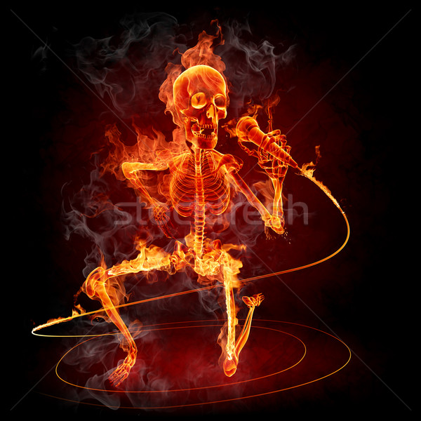 Burning skeleton  Stock photo © Misha