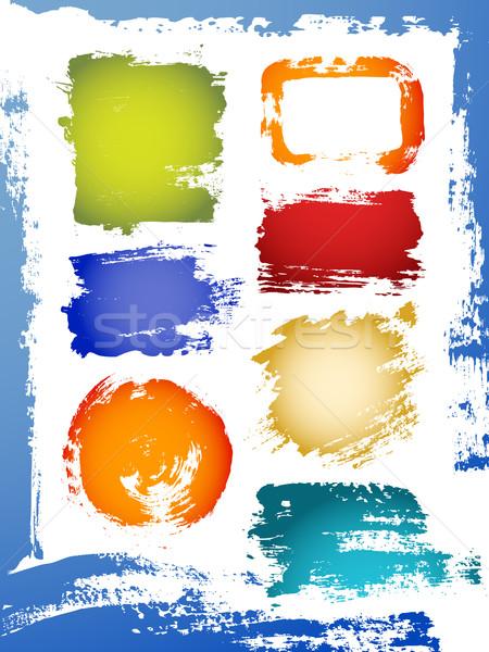 Wektora grunge projektu elementy zestaw streszczenie Zdjęcia stock © Misha