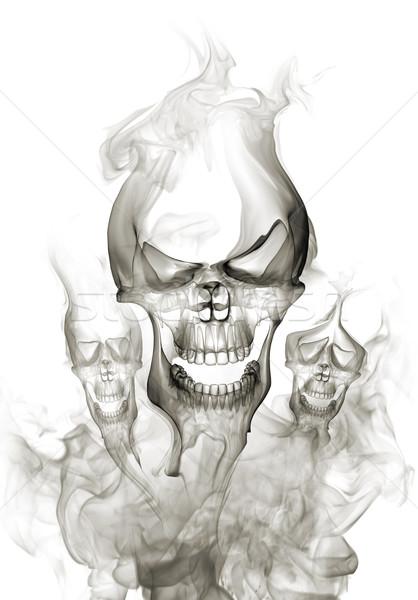 Kafatası duman arka plan eğlence sıcak tatil Stok fotoğraf © Misha