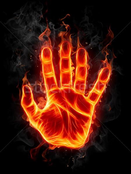 Flaming hand Stock photo © Misha