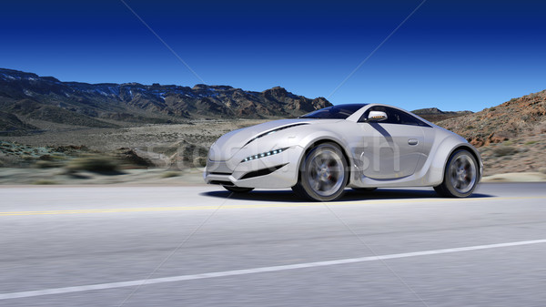 Sports car moving on the road Stock photo © Misha