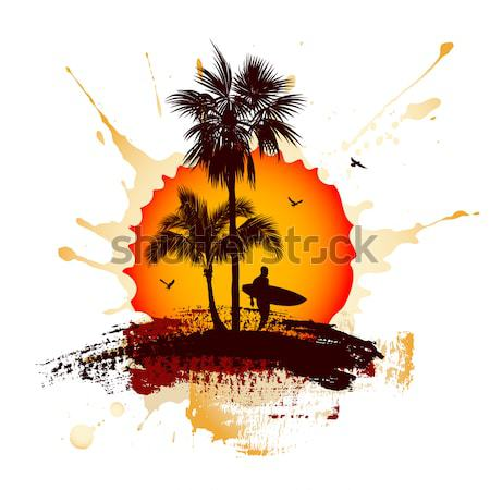 Summer tropical background Stock photo © Misha
