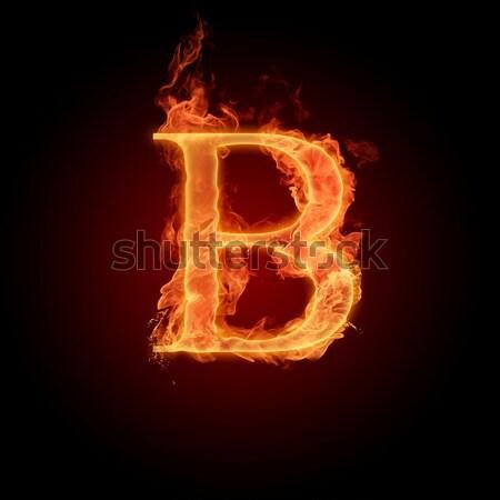 Brand brief vlammende Rood vlam mooie Stockfoto © Misha