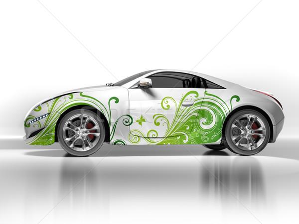 ökológiai autó eredeti terv modell háttér Stock fotó © Misha