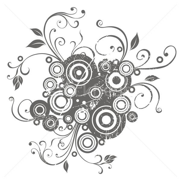 Absztrakt virágmintás terv dekoratív dizájn elem levél Stock fotó © Misha