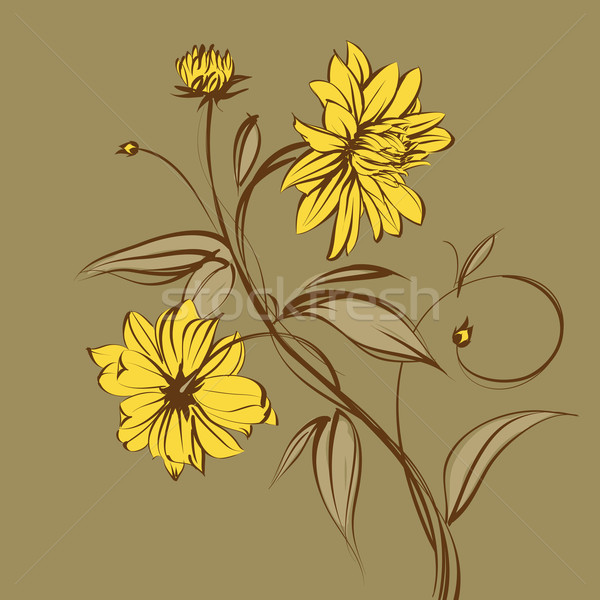 Gestileerde bloem vector decoratief ontwerp blad Stockfoto © Misha