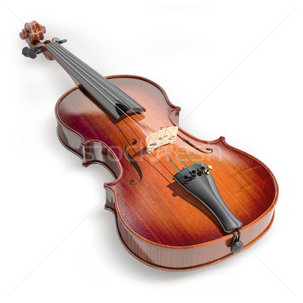 скрипки белый фон музыку искусства звук Сток-фото © Misha