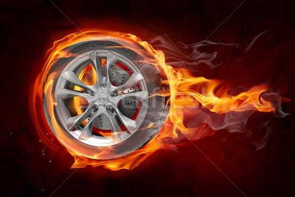 Stock fotó: égő · kerék · kiégés · sebesség · verseny · gyors