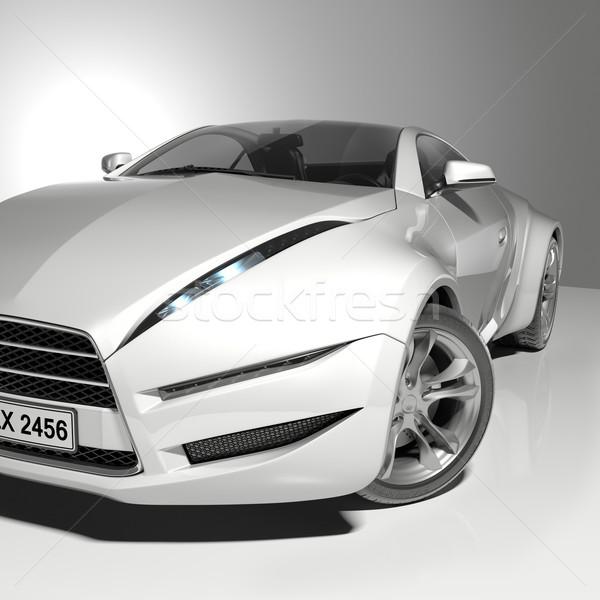 Fehér sportautó enyém saját autó terv Stock fotó © Misha