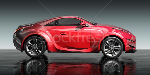 красный Спортивный автомобиль собственный автомобилей дизайна Сток-фото © Misha