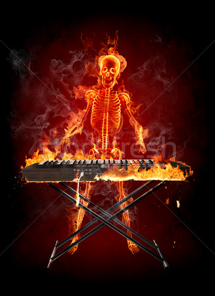 Fire skeleton Stock photo © Misha