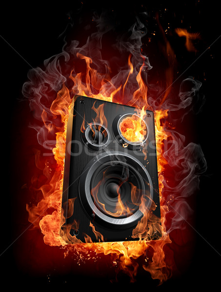 Burning speaker Stock photo © Misha
