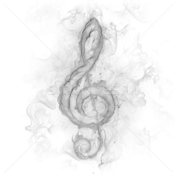 Personeel sleutel rook ontwerp kunst teken Stockfoto © Misha