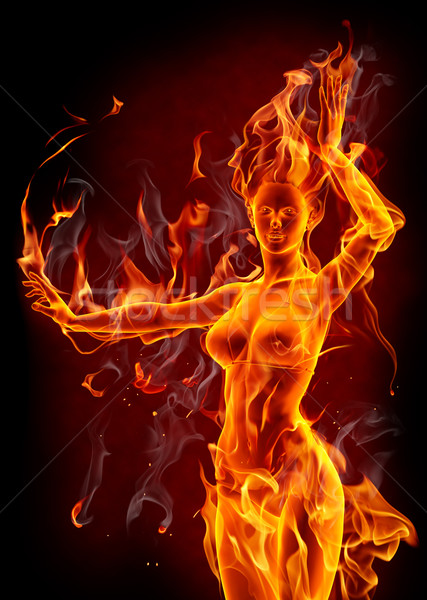 dancing fire girl stock photo  u00a9 misha   1312881
