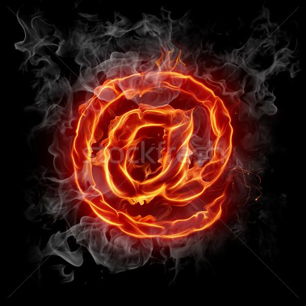 Forró posta égő szimbólum tűz absztrakt Stock fotó © Misha