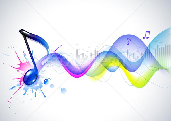 Note and soundwaves Stock photo © Misha