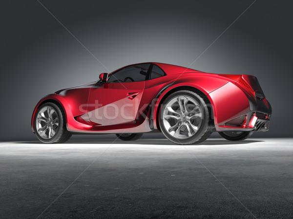 Rojo coche deportivo original coche diseno rueda Foto stock © Misha