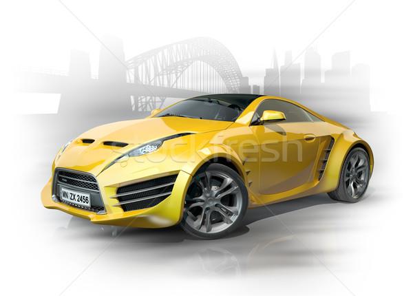 желтый Спортивный автомобиль городского автомобилей дизайна аннотация Сток-фото © Misha