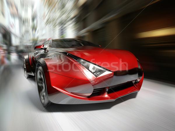 Déplacement route originale voiture design Photo stock © Misha