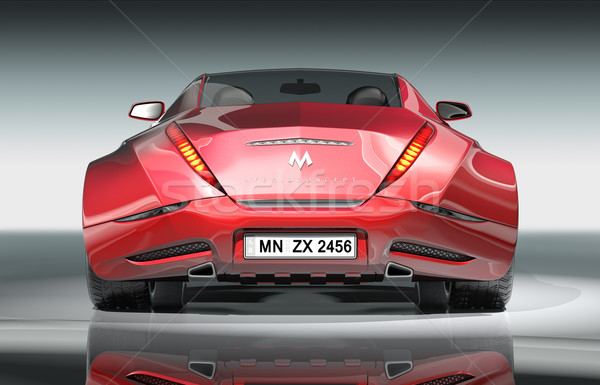 Piros sportautó eredeti autó terv kerék Stock fotó © Misha