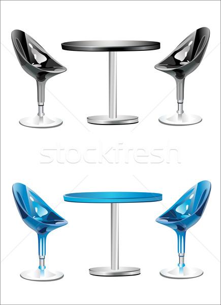 現代 バー 表 2 チェア 白 ストックフォト © mitay20