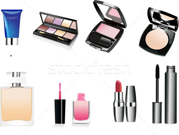 Decorativo cosméticos perfume isolado moda grupo Foto stock © mitay20