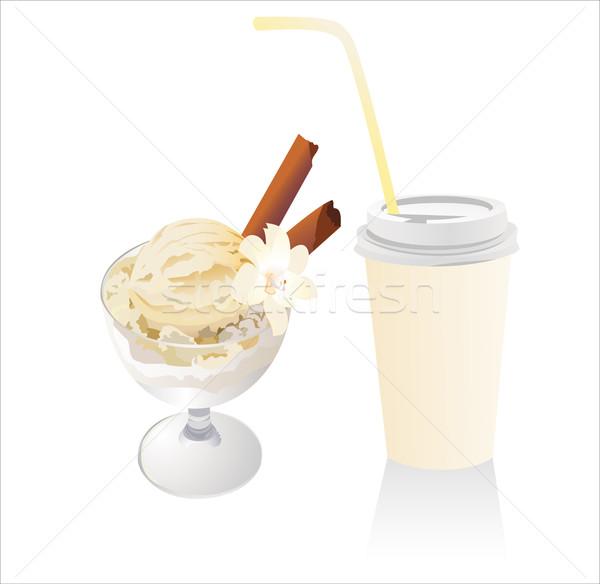 アイスクリーム デザイン ガラス 背景 芸術 夏 ストックフォト © mitay20