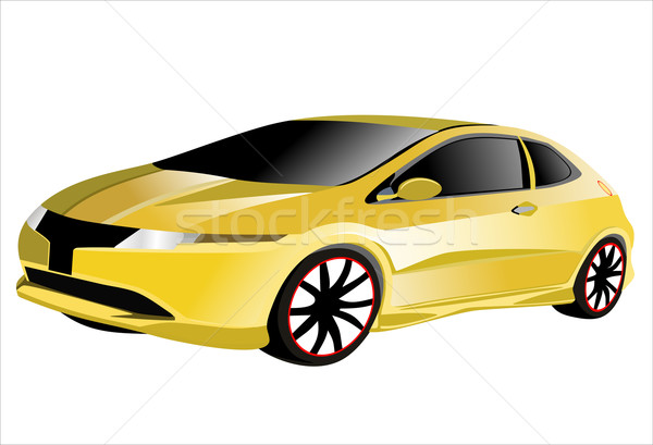 Citromsárga sportautó eredeti autó terv kerék Stock fotó © mitay20