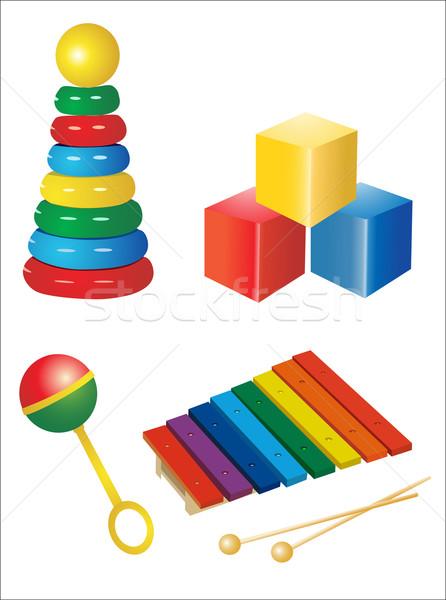 セット アイコン おもちゃ ボール クマ ドラム ストックフォト © mitay20