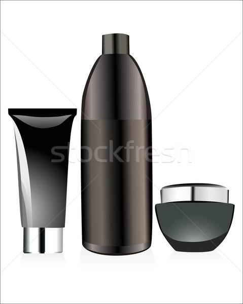 セット 化粧品 ボトル 孤立した 白 青 ストックフォト © mitay20