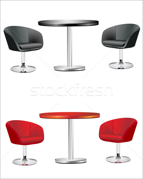 modern chairs and table on the white background Stock photo © mitay20