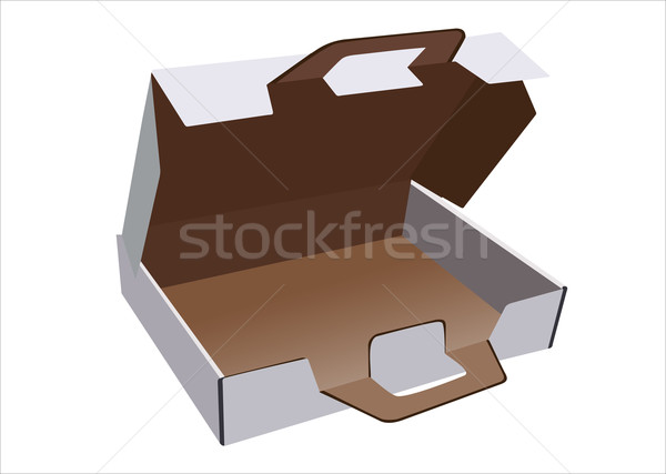 Flat box with lid and lock Stock photo © mitay20