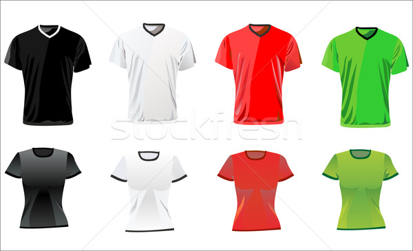 Tshirt ontwerpsjabloon mannen vrouwen mode abstract Stockfoto © mitay20