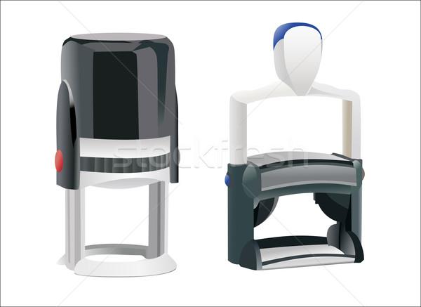 スタンプ セット モデル 背景 赤 印刷 ストックフォト © mitay20