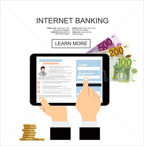 インターネット 銀行 お金 ショッピング 携帯 金融 ストックフォト © mitay20