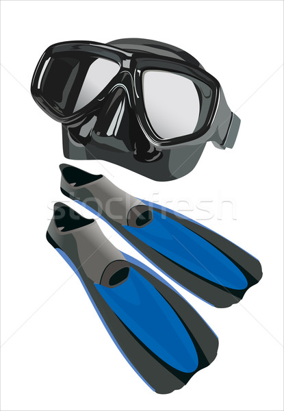 flippers and mask for diving Stock photo © mitay20