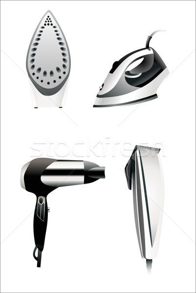 Icons set household appliances Style and realistic Icons of household appliances for web or print de Stock photo © mitay20