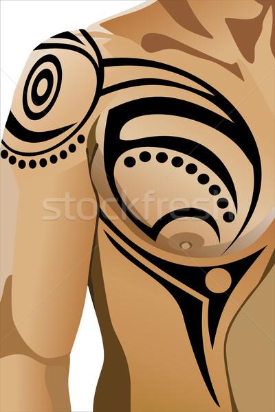tribal tatuagem masculino beleza ilustra o de. Black Bedroom Furniture Sets. Home Design Ideas