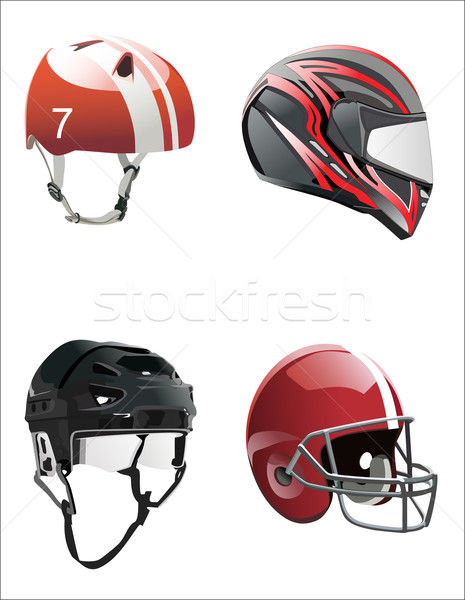 set helmets Stock photo © mitay20