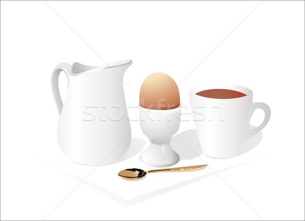 朝食 背景 レストラン バー パン プレート ストックフォト © mitay20