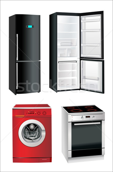 picture of household appliances on a white background Stock photo © mitay20