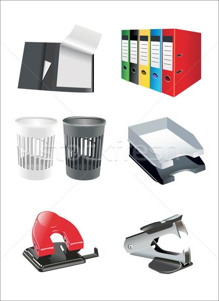 Büro liefern Textur Kaffee Stift Bleistift Stock foto © mitay20