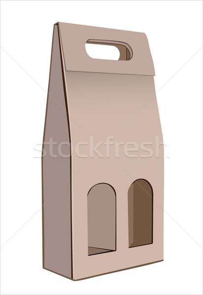 Corrugated cardboard gift wine bottles box Stock photo © mitay20