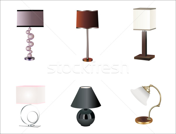 Table lampes vecteur amour design Photo stock © mitay20