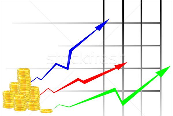 Arany érme nő pénz pénzügyi fehér Stock fotó © mitay20