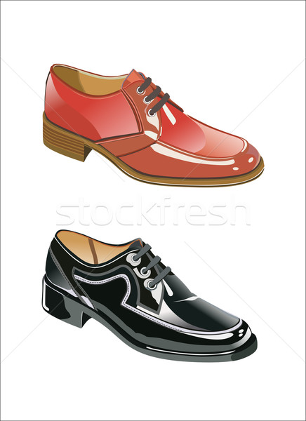 colorful men shoe in a beautiful and modern composition plan isolates in white background Stock photo © mitay20