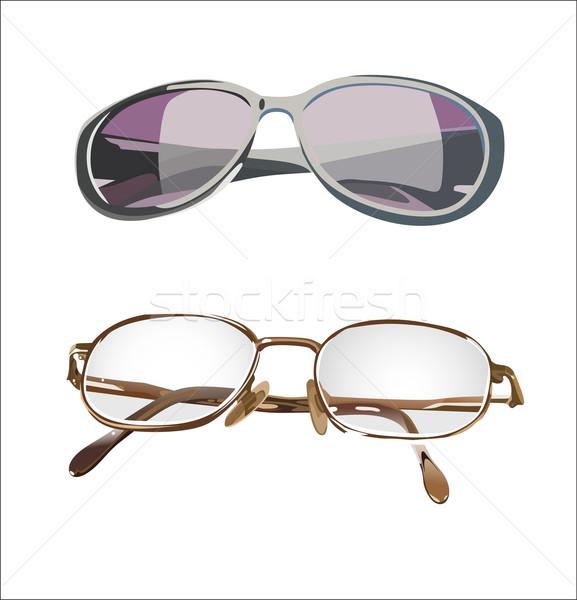 セット 2 眼鏡 孤立した 白 眼 ストックフォト © mitay20