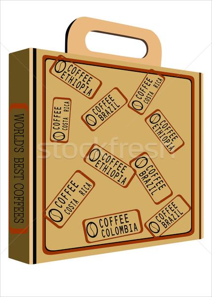 Kávé doboz üzlet nyomtatott csomag karton Stock fotó © mitay20